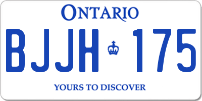 ON license plate BJJH175
