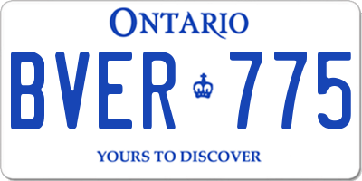 ON license plate BVER775