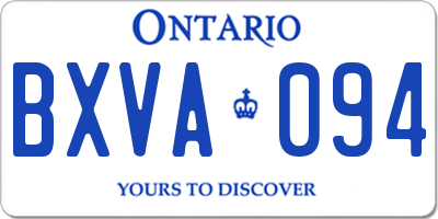 ON license plate BXVA094