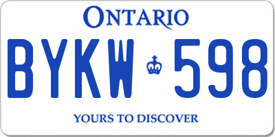 ON license plate BYKW598