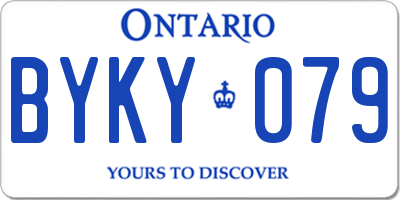 ON license plate BYKY079