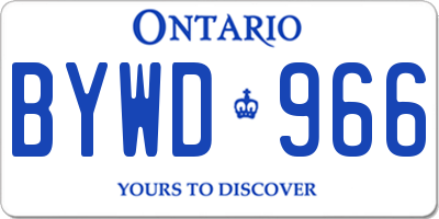 ON license plate BYWD966