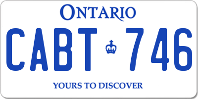 ON license plate CABT746