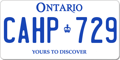 ON license plate CAHP729