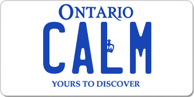 ON license plate CALM