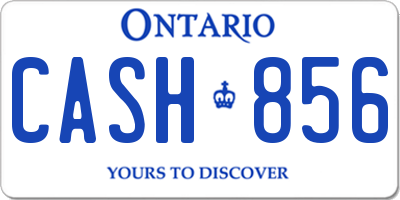 ON license plate CASH856