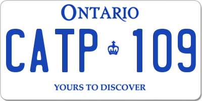 ON license plate CATP109