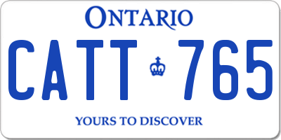 ON license plate CATT765