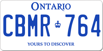 ON license plate CBMR764