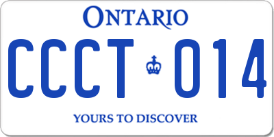 ON license plate CCCT014