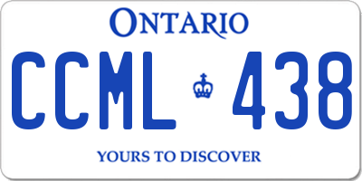 ON license plate CCML438