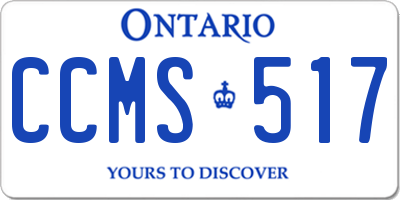 ON license plate CCMS517