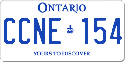 ON license plate CCNE154