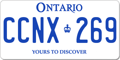 ON license plate CCNX269