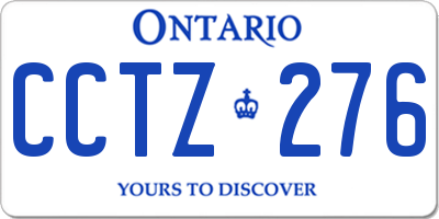 ON license plate CCTZ276