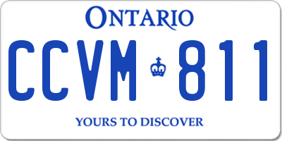 ON license plate CCVM811