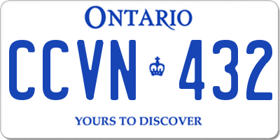 ON license plate CCVN432