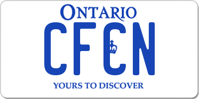 ON license plate CFCN