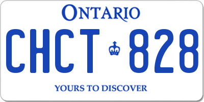 ON license plate CHCT828