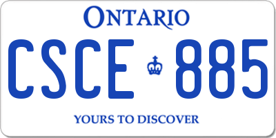 ON license plate CSCE885