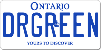 ON license plate DRGREEN