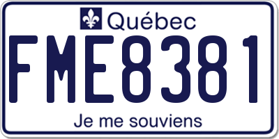 QC license plate FME8381