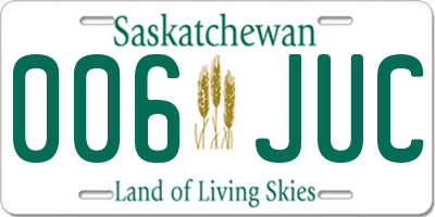 SK license plate 006JUC