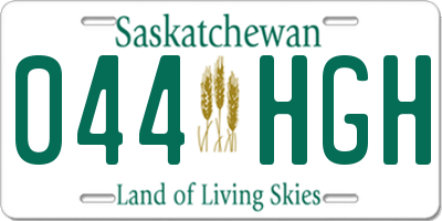 SK license plate 044HGH