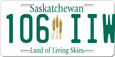 SK license plate 106IIW