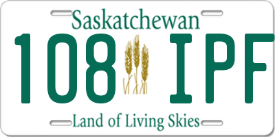 SK license plate 108IPF