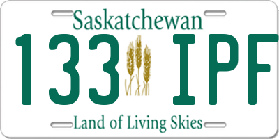 SK license plate 133IPF