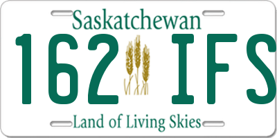 SK license plate 162IFS