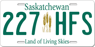 SK license plate 227HFS