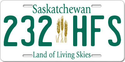 SK license plate 232HFS