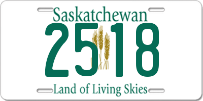 SK license plate 2518
