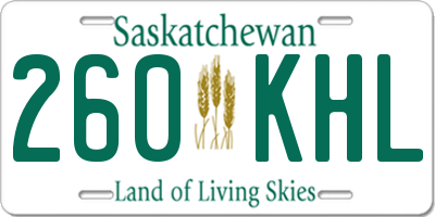 SK license plate 260KHL