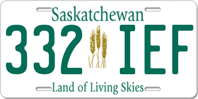 SK license plate 332IEF