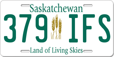 SK license plate 379IFS