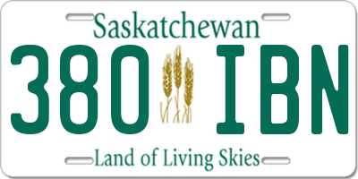 SK license plate 380IBN