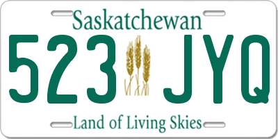 SK license plate 523JYQ