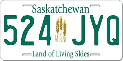 SK license plate 524JYQ