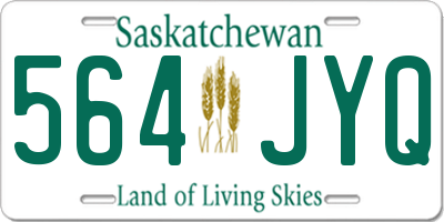 SK license plate 564JYQ