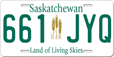 SK license plate 661JYQ