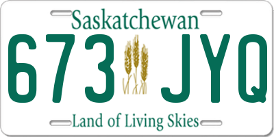 SK license plate 673JYQ