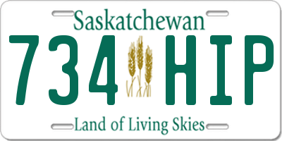 SK license plate 734HIP