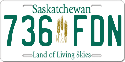 SK license plate 736FDN