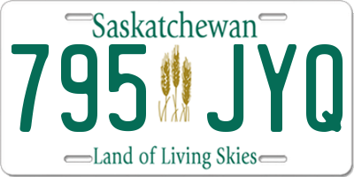SK license plate 795JYQ