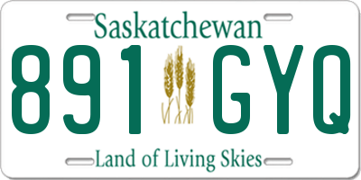 SK license plate 891GYQ
