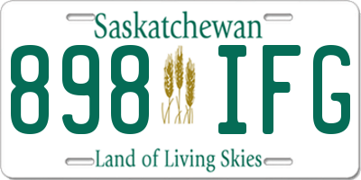 SK license plate 898IFG