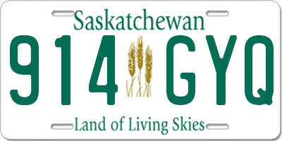 SK license plate 914GYQ